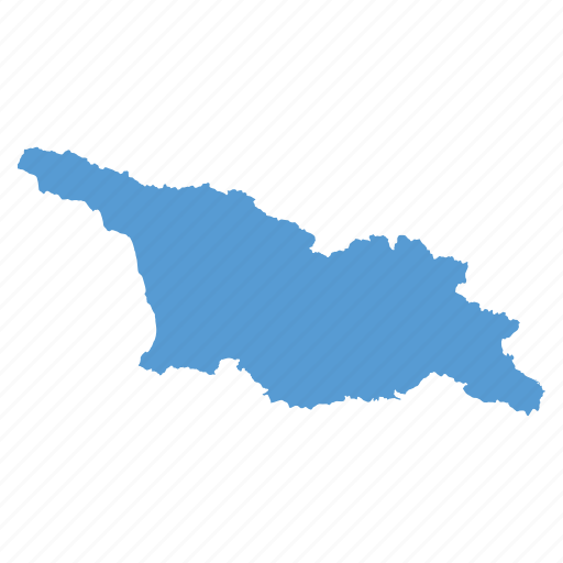 country, georgia, georgian, location, map, navigation icon