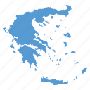 country, greece, greek, location, map, navigation icon