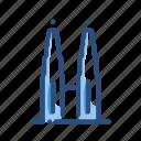landmark, monument, towers, world icon