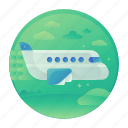 air, flight, plane, transport, transportation, travel icon