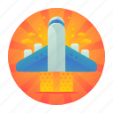air, flight, plane, travel icon