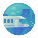 train, transport, transportation, travel icon