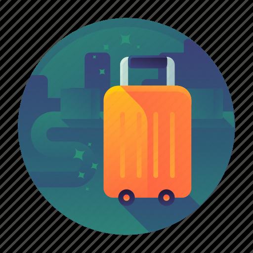 bag, luggage, suitcase, travel, trolley icon