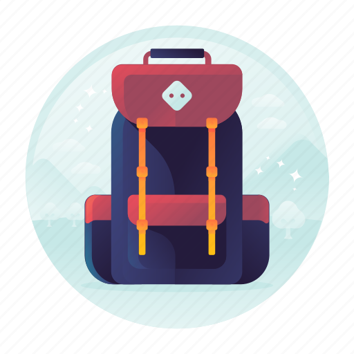 adventure, backpack, bag, hiking, rucksack, tourism, travel icon
