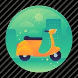bike, motor, motorbike, motorcycle, scooter, travel icon