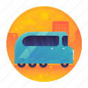 bus, car, excursion, tour, tourism, travel icon