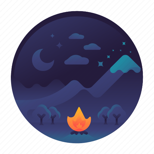 adventure, camping, climbing, hiking, hills, mountains, travel icon