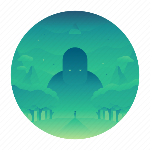 forest, giant, travel, woods icon
