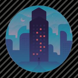 building, city, high-rise, landmark, skyscraper, travel icon