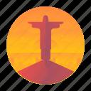 brazil, janeiro, jesus, monument, rio, travel