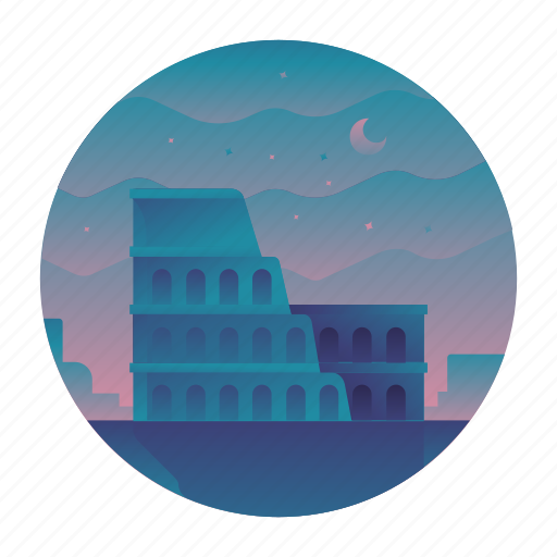 colosseum, europe, italy, landmark, monument, rome, travel icon