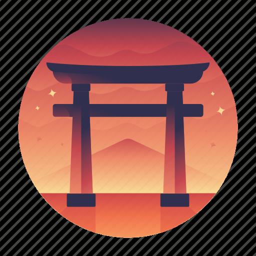 itsukushima, japan, shinto, shrine, travel icon