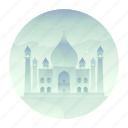 agra, india, landmark, monument, taj mahal, tourism, travel icon
