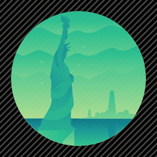 liberty, new york, nyc, statue, travel, usa icon