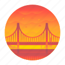 bridge, california, golden gate, san francisco, suspension, travel