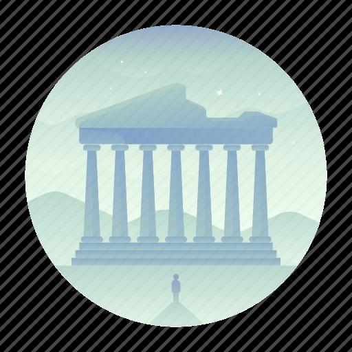 acropolis, athens, greece, landmark, monument, ruins, travel icon