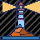 lighthouse, tower, sea, light, beacon, navigation, nautical