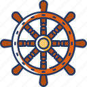 ship, wheel, ship wheel, steering-wheel, steering, boat, sea