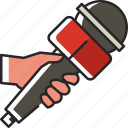 hand, mic, hand mic, journalist, reporter, interview, press