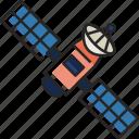 satellite, space, antenna, communication, dish, radar, technology