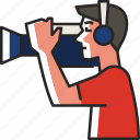 cameraman, photographer, camera, photography, shooting, man, camera operator