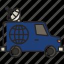 van, tv van, news, television, vehicle, transport, press