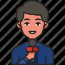 reporter, news, journalist, media, man, male, avatar