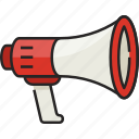 megaphone, marketing, announcement, journalism, press, advertising, communication