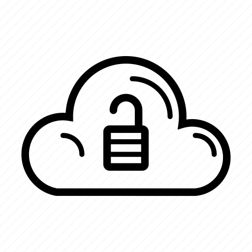 cloud, computer, internet, technology, unlocked, web icon