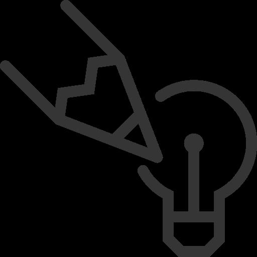 creativity, edit, idea, lamp, pencil, write icon