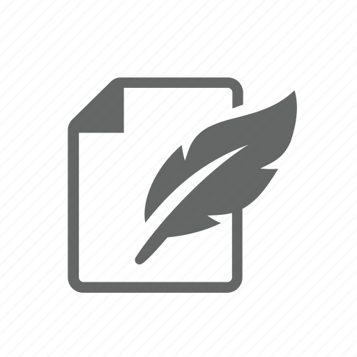 feather, old, page, pen, sheet, white, write icon