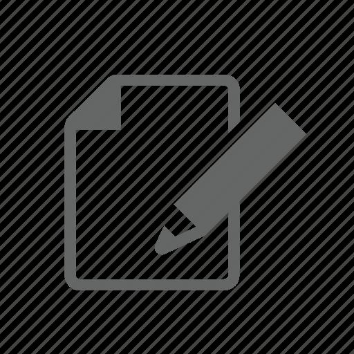 memo, page, paper, pen, pencil, sheet, writing icon
