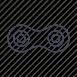 bicycle, bike, chain, piece, segment icon