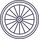 bicycle, bike, front wheel, wheel icon