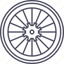 bicycle, bike, rear wheel, wheel icon
