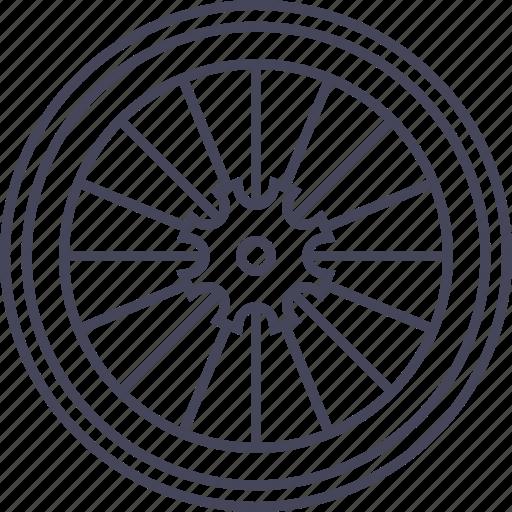 bicycle, bike, rear wheel, wheel icon