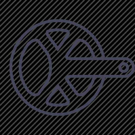 bicycle, bike, chainwheel, drivetrain icon