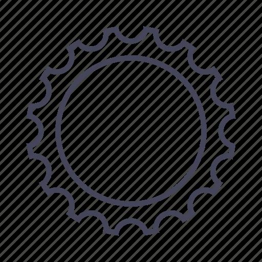bicycle, bike, drivetrain, gear icon