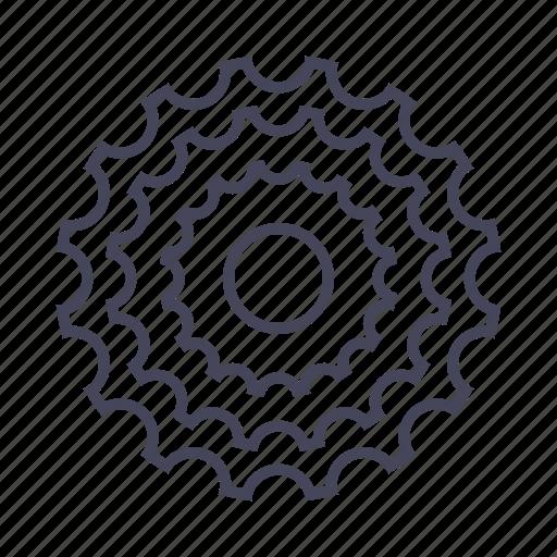 bicycle, bike, cassette, drivetrain, gear icon