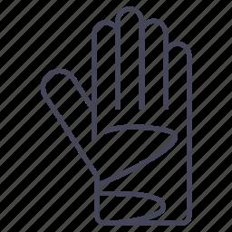 bicycle, bike, glove, hand, long glove, protection icon