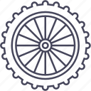 bicycle, front wheel, mountain bike, wheel icon