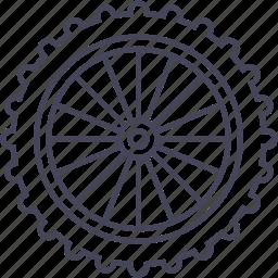 bicycle, front wheel, mountain bike, wheel icon