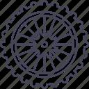 bicycle, mountain bike, rear wheel, wheel