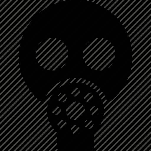 caution, gas, gasmask, mask, wsd icon