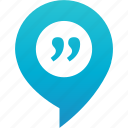debate, discussion, flirt, pin, quote, rande, talk-in icon