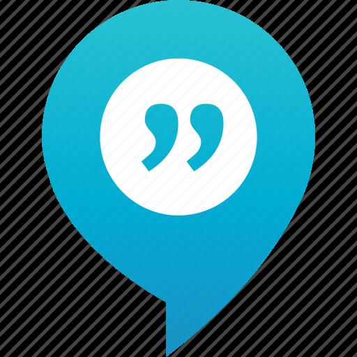 debate, discussion, flirt, pin, quote, rande, talk-in icon