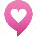 flirt, heart, love, marker, pin, rande, valentine icon