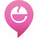 coffee, drink, flirt, map, marker, rande, tea icon