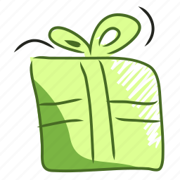 birthday, christmas, gift, handdraw, packet, present, xmas icon