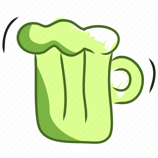 alcohol, beer, drink, glass, handdraw, pub, tavern icon